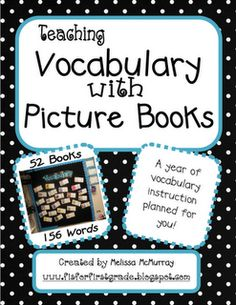 Actual site - You'll never have to plan a vocabulary lesson again!Use picture books each week to teach your students vocabulary. I've read and chosen quality v. Vocabulary Instruction, Teaching Vocabulary, Vocabulary Practice, Teaching Language Arts, Teaching Reading, Speech And Language, Teaching Ideas, Learning, Teacher Resources