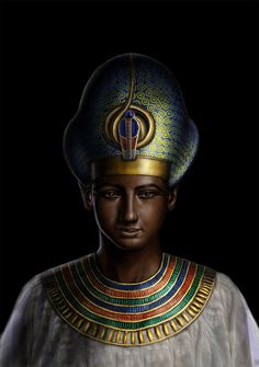 Ramses II The Great. He was the son of Seti I and Queen Tuya. Ramses was the 3rd king of the 19th Dynasty. He lived to be 96 years old, had 200 wives and concubines, 96 sons and 60 daughters. One son, Prince Khaemwese, was a high priest of Ptah, governor of Memphis, and was in charge of the restoration of the Pyramid of Unas. Painting by Ramomar [Omar Buckley] whose wonderful gallery is at the link!