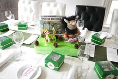 Liam's Storybook Baby Shower - Where the Wild Things Are centerpiece