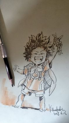 堀越耕平 (@horikoshiko) / Twitter Anime Drawings Sketches, Anime Sketch, Cute Drawings, Hero Academia Characters, My Hero Academia Manga, Pop Art, Chibi, Sketch Poses, Sketches Of People