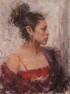 """Artist Dan Beck - """"Vania"""" ~ 16"""" x 12"""" Oil"""