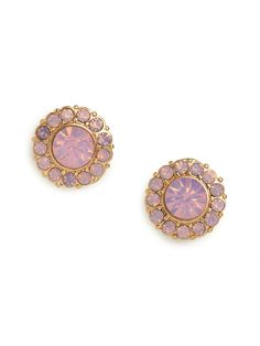 In need of a quick hit of romance? Then check out these pretty stud earrings, which come shaped in a bloom silhouette and feature gorgeous pink gems.