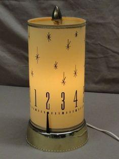 Mid-Century Spartus 665 Motion Clock Lamp 1960's Revolving TV Light