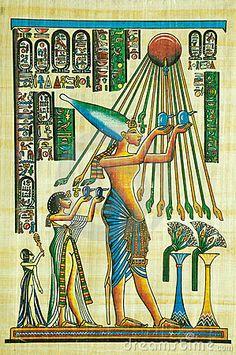 Pintura egípcia do papiro Fotografia Editorial