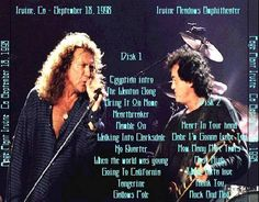 """Back cover to the bootleg of the show Michelle and I saw back in 1998 during Page/Plant's """"Walking Into Clarksdale"""" tour."""