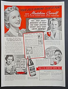 Certo for Making Jams and Jellies Ad - with Actress Madeleine Carroll
