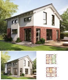 Fassade Einfamilienhaus satteldach haus mit klinker fassade einfamilienhaus evolution 143