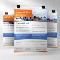 Clean corporate flyers by Christoph Herrmann, via Behance