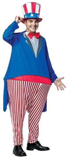 Be a stunner with Uncle Sam Adult Hoopster Costume. New collection of Uncle Sam Costumes for July, Halloween at PartyBell. Costumes For Teens, Pet Costumes, Adult Costumes, Costume Ideas, Wholesale Halloween Costumes, Christmas Costumes, Marvel Dc, Uncle Sam Costume, Cool Uncle