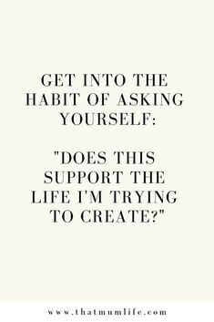 Does this support the life I'm trying to create? motivation and inspiration Motivation Positive, Positive Vibes, Healthy Motivation Quotes, Work Motivation, The Words, Positive Quotes For Life Encouragement, Motivational Quotes For Life Positivity, Motivational Sayings, Quotes Positive