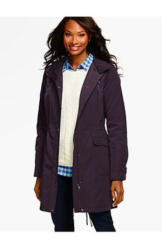 Hooded Parka - Talbots What a great Fall parka!  Perfect for a walk in the leaves!