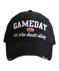 17acefb0341 The Katydid Gameday is the Best Day Hat trucker caps are embroidered and  have curved bill distressed cap gives it a worn look adjustable tab with  mesh back ...