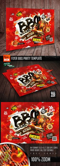 #Flyer #BBQ #Party #Template - Events Flyers Grill Party, Bbq Party, Beach Party, Flyer Design Inspiration, Event Flyer Templates, Party Flyer, Fourth Of July, Holiday Parties, Barbecue