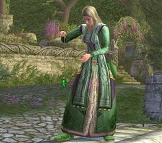 """Really beautiful use of the """"stone reader's robe"""".  It matches the garden perfectly!"""