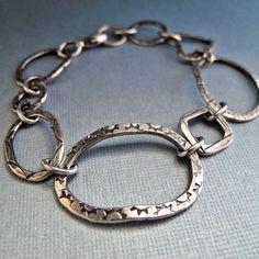 Loopy Link Bracelet by NinaGibsonDesigns on Etsy, $85.00