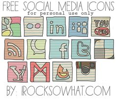 Free Social Media Icons for your blog! by www.irocksowhat.com