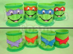 4 Ninja Turtle Centerpieces by kimberlysfoamparty on Etsy, $20.00