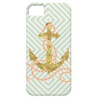 Girly Glitter Anchor iPhone 5 Cases from Zazzle.com