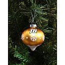 """Gift Creations Kyle Busch Blown Glass Ornament. Glass ball ornament Features NASCAR® driver sponsor and number Decorated with snowflakes Dimensions: H 2.87"""" x W 2.76"""" Officially licensed Made in China. Price: $7.99"""