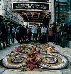 stunning-3d-street-art-with-chalk The Inventor and Master of 3D Sidewalk Chalk Art – Kurt Wenner