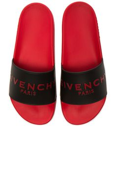 51edbd2712d Givenchy Slide Flat Sandals ( 300) ❤ liked on Polyvore featuring men s  fashion