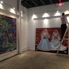 Putting the final touches on our newest #exhibit by #KirkKeWang Opens tmro night during #SeminoleHeights #FirstFriday #Gallery open from 7-10pm with open #dance #cypher in the main #studio.