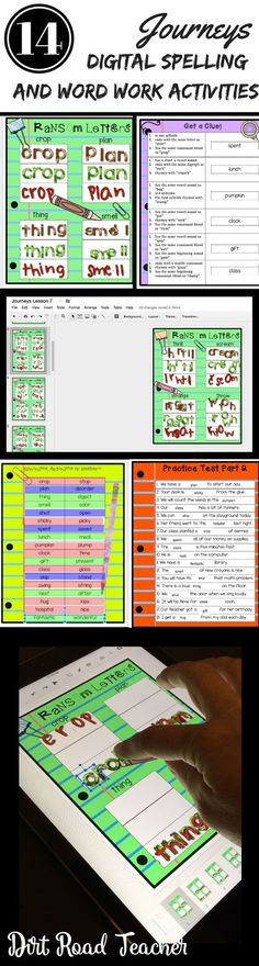 Now you can incorporate technology with your spelling practice and word work stations. These spelling units are based on 3rd grade JOURNEYS spelling lists. The digital Google Drive format is no-prep and makes planning your literacy block/daily 5 so much e