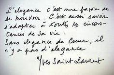 Citation de Yves Saint-Laurent