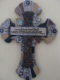 Polymer Clay Cross by LaurelTreeStudio on Etsy, $145.00