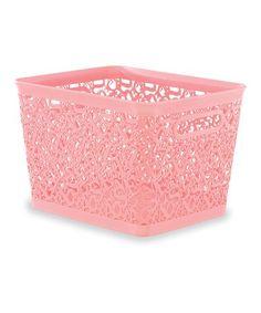 Look what I found on #zulily! Pink Alphabet Storage Box #zulilyfinds
