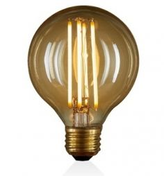 Because they reduce energy use and last five times longer than regular incandescent lightbulbs, LEDs are a superbly cost-efficient lighting choice. Our globe bulb has visible filaments and an antique finish for a vintage, warm glow. Led Dimmer, Dimmable Led Lights, Bedside Lighting, Bedside Table Lamps, Ceiling Fixtures, Light Fixtures, Vintage Globe, Lamp Bulb, Globe Lights
