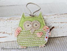 Another owl from Sizzix Owl #2 die.    I just bought this die, I can't wait to make my own owl.