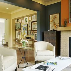 Instead of painting an accent wall, create a gallery wall
