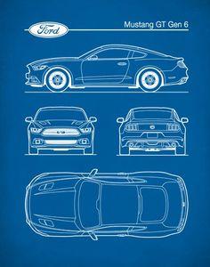 Ford Mustang Gen 6, Auto Art, Patent Print, Car Art, Ford Mustang Art, P454 Ford Mustang, New Mustang, Mustang Cars, Mustang Gt500, Car Design Sketch, Car Sketch, Porsche 911 Gt2, Car Art, Mustang Drawing