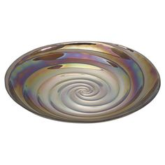 Glass bowl with a spiral design.   Product: BowlConstruction Material: GlassColor: Multi