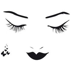 beautiful-artistic-female-face-abstract-design-wall-art-decor-idea.jpg... ❤ liked on Polyvore