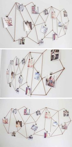 Use twine to create this modern geometric display.