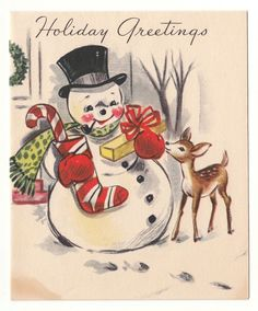 christmas crafts with vintage cards or images Vintage Christmas Images, Old Christmas, Old Fashioned Christmas, Vintage Christmas Ornaments, Retro Christmas, Vintage Holiday, Christmas Pictures, Christmas Snowman, Christmas Greetings