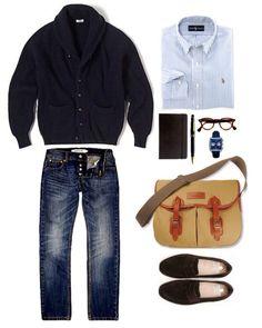 Sharper man Mens Wardrobe Essentials, Men's Wardrobe, Gents Fashion, Mod Fashion, Fashion Guide, Casual Outfits, Men Casual, Fashion Outfits, Pullover Mode