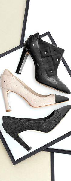 Chanel ~ Cruise Black + White Shoes 2014