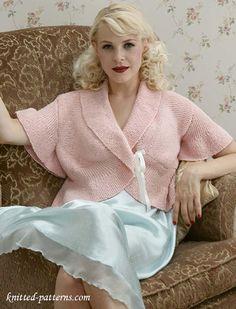 "Jacket knitting pattern - bust - 32"" to 51"""