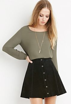 Tops - Blouses & Shirts - Long Sleeve | WOMEN | Forever 21
