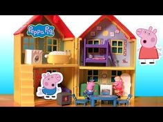Play Doh Peppa Pig Peek n Surprise Playhouse Playset With George Mummy Pig by Disneycollector - YouTube