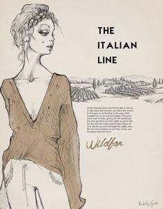 fashion and model Watercolor illustration by Kimberley Gordon of wildfox, wedreamoficecream
