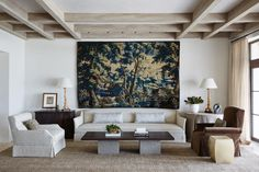 Andrew Howard Interior Design » L'Art de Vivre Great focal pt. based on balance and ceiling design.