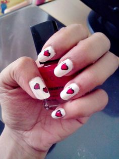 You can do the hearts by cutting up a band-aid and then cutting a heart into it. Michelle Phan does a tutorial on YouTube :)