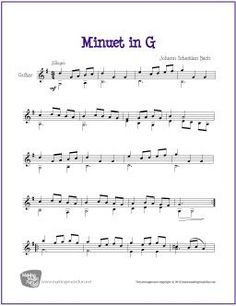 Minuet in G | Free Sheet Music for Classical Guitar (Scheduled via TrafficWonker.com)