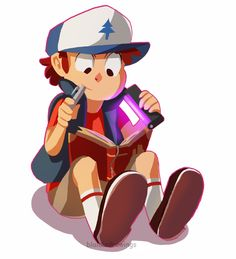 """blalaladrawings: """"A Boy and his Book (to match the Mabel) """""""