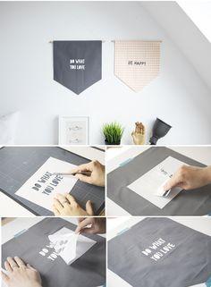 DIY pennants and easy screenprinting