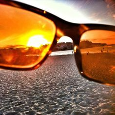 This was taken at Bondi Beach, Sydney Australia, but I bought the glasses at Venice, CA. They rock. - Caroline P.
